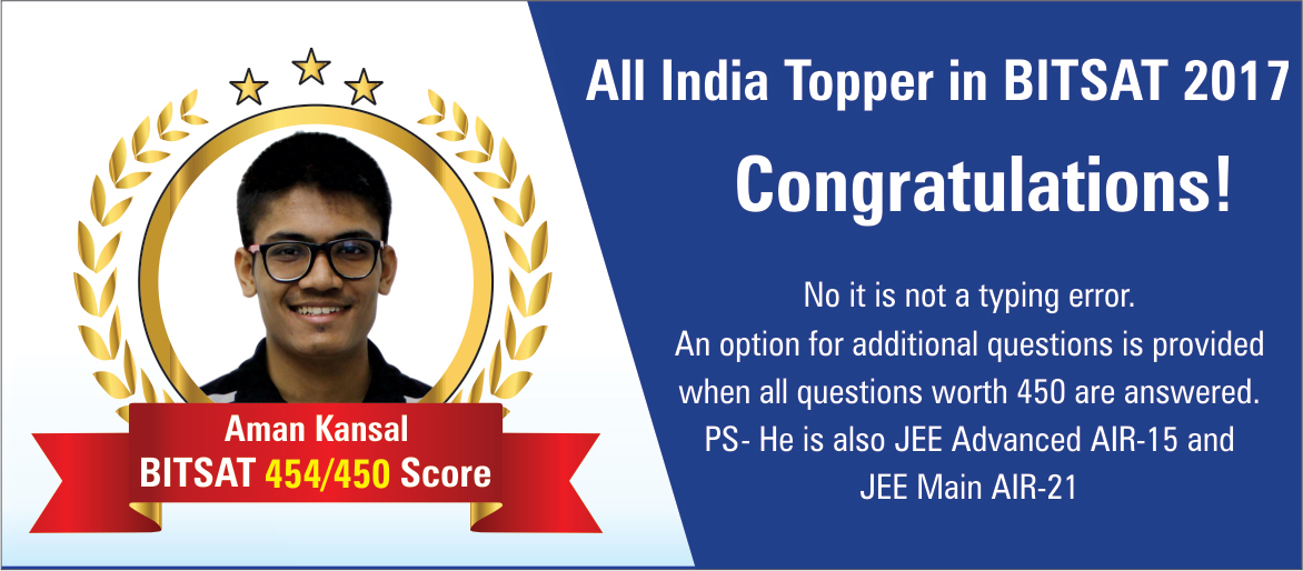 All India Topper In BITSAT 2017