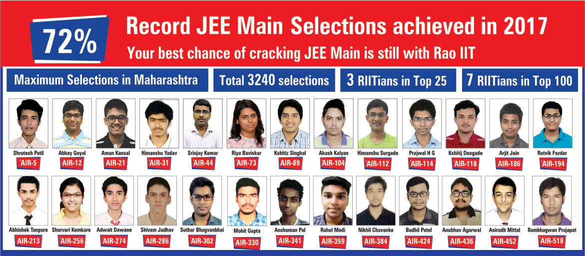 Record JEE Main Selections achieved in 2017